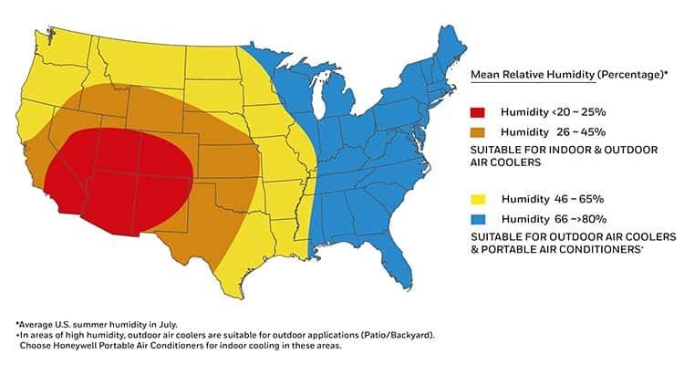Evaporative Cooler Map