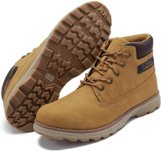 CC-Los Men's Casual Stylish Ankle Hiking Boots Lace up Work Boot Mid-Top