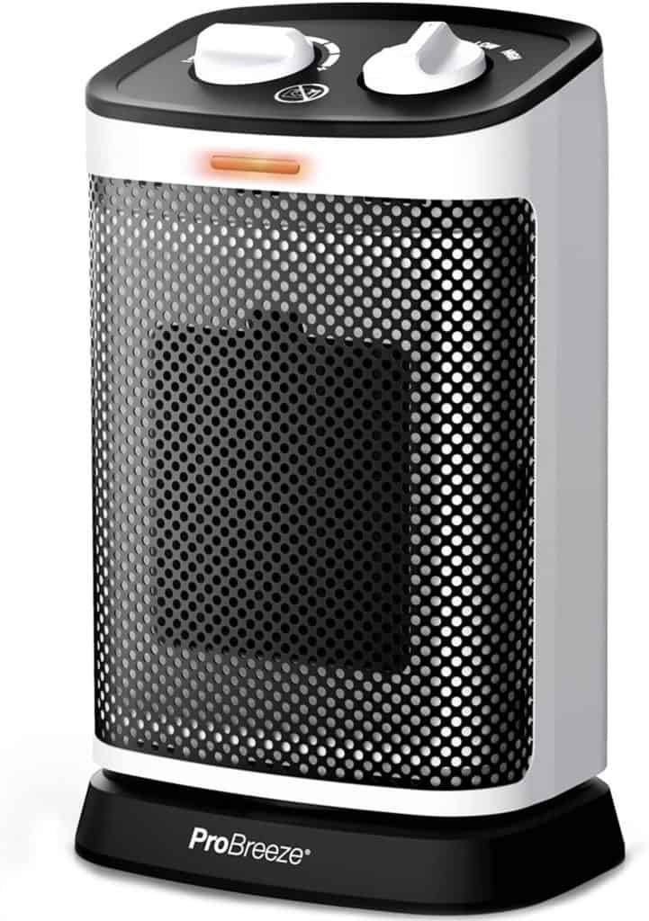 Pro Breeze Mini Oscillating Ceramic Space Heater